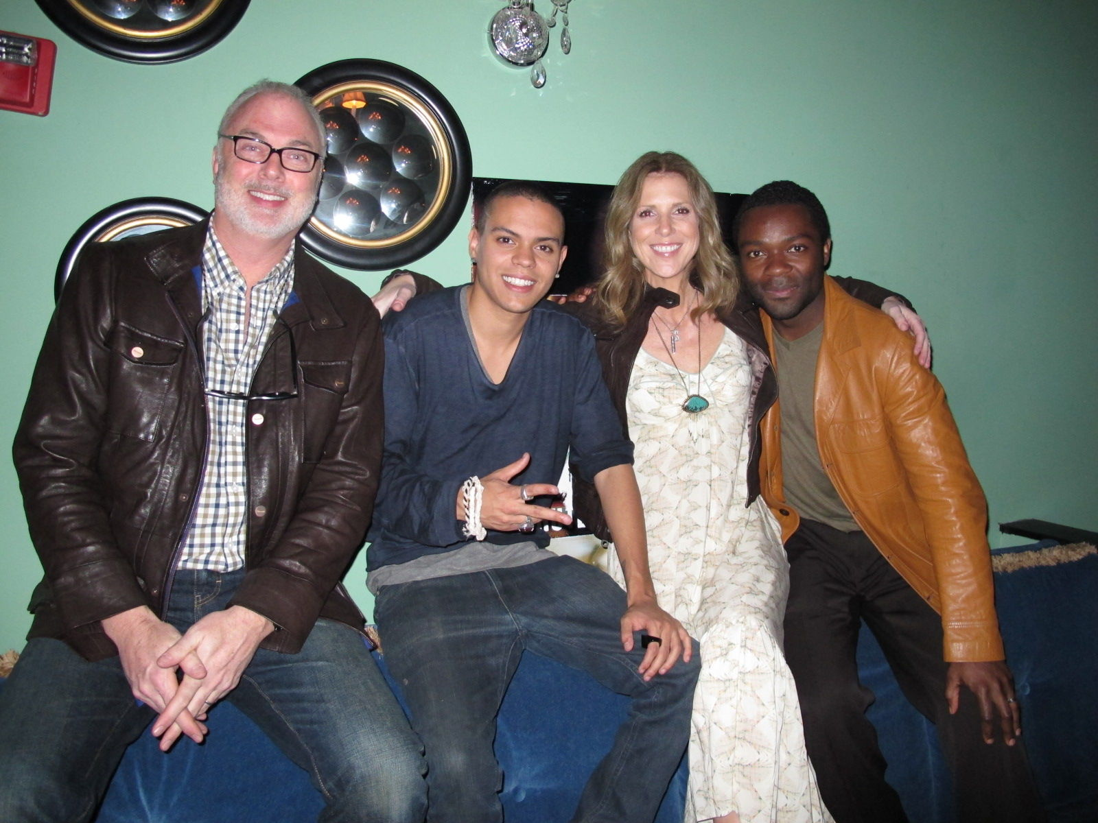 Dr. Gilreath, Evan Ross, Channie Gilreath and David Oyelowo at the film's premiere at the SXSW Film Festival in April 2011.