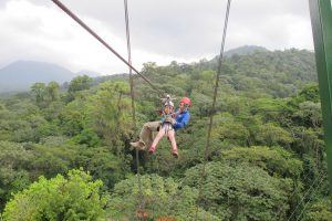 Birdie Gilreath Ziplining in Costa Rica