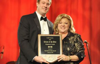 Dr. Gilreath's patient - Kim Gresh 2012 Cobb Citizen of the Year Award.